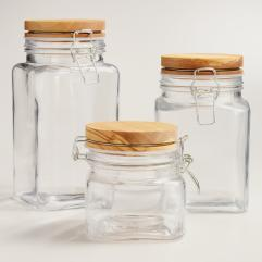 Olivewood Canisters